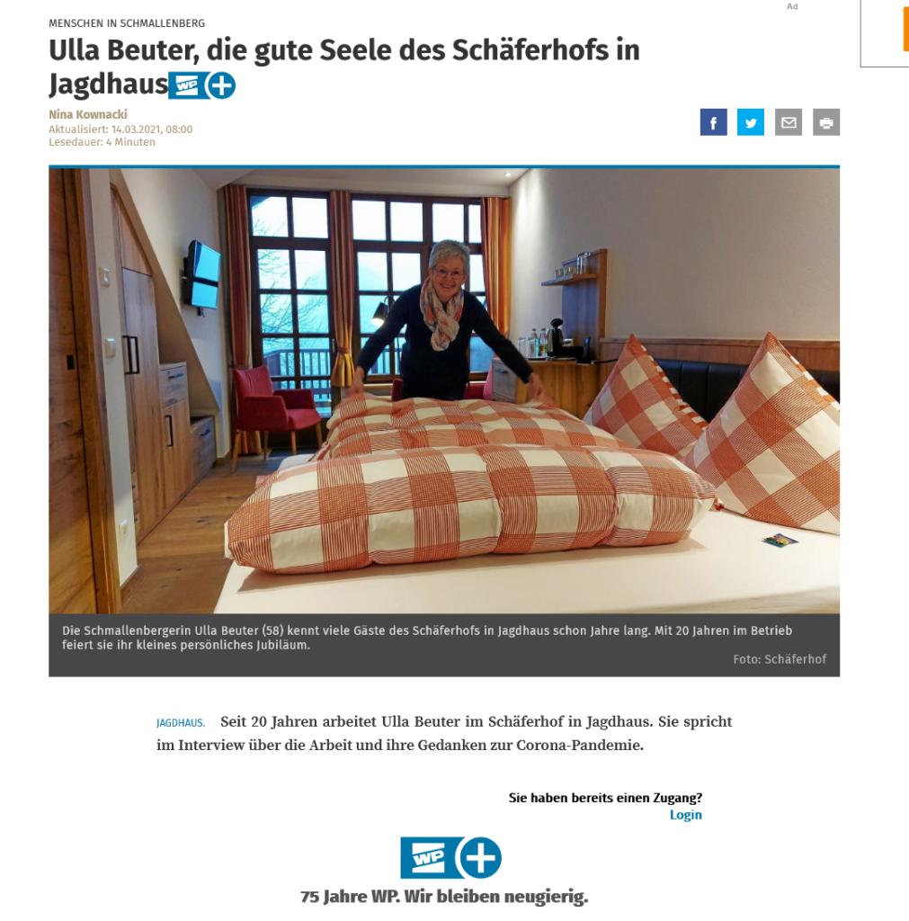 Ulla Beuter, die gute Seele des Schäferhofs in Jagdhaus 9