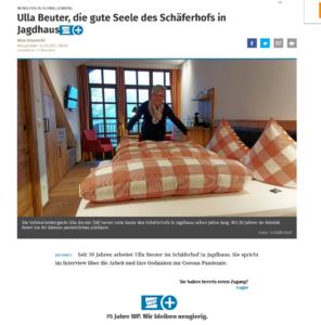 Ulla Beuter, die gute Seele des Schäferhofs in Jagdhaus 1